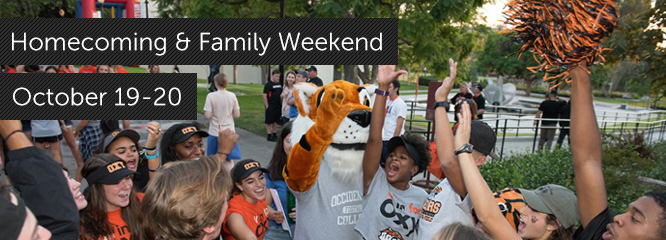 Homecoming & Family Weekend: October 19-20, 2018