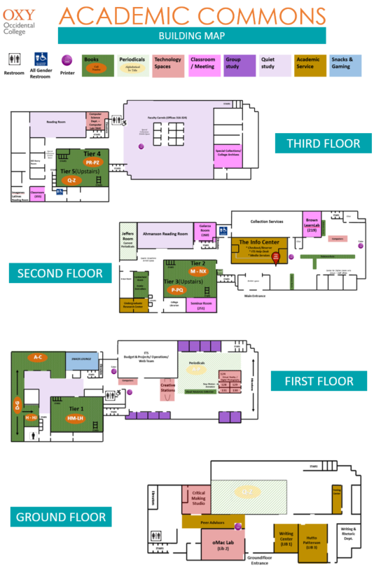 Academic Commons Building Map