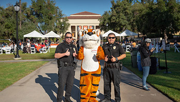 Oswald with two Campus Safety officers