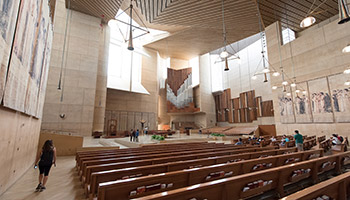 The interior of the Cathedral of Our Lady of Los Angeles