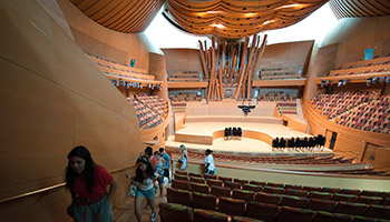 The interior of Walt Disney Concert Hall