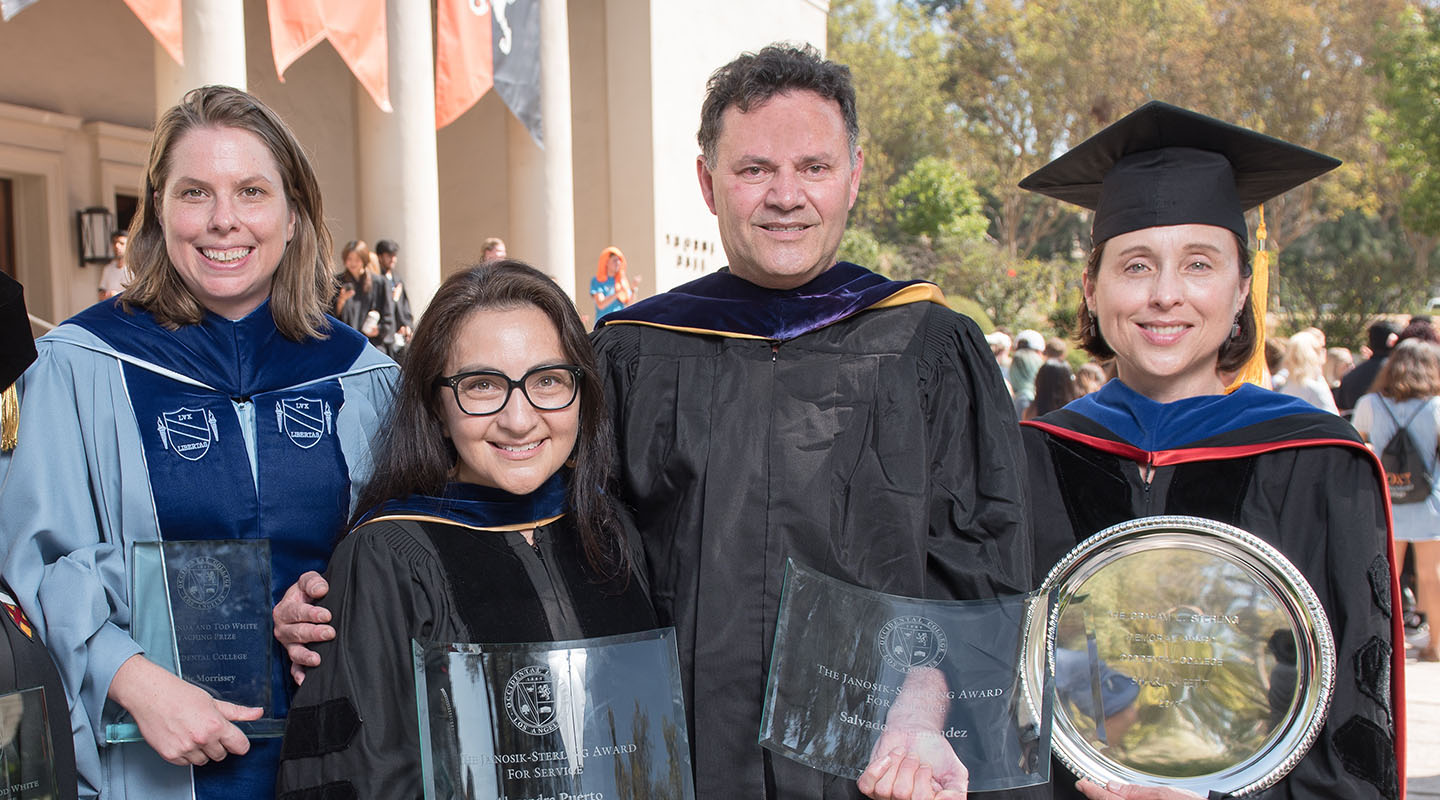 Oxy faculty members with awards