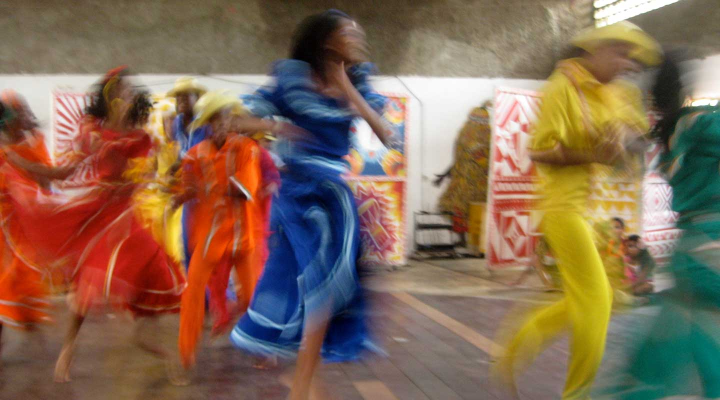 Latin American dancers performing
