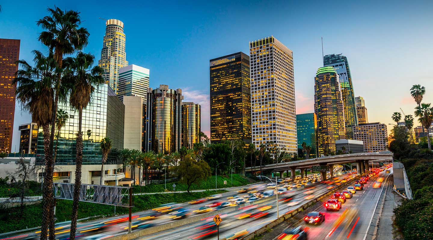 Scene of downtown Los Angeles