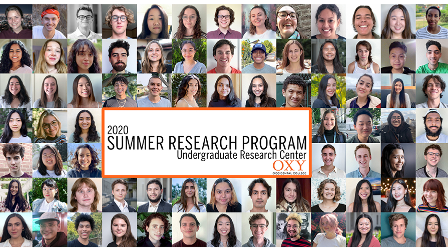 A collage of student researchers presenting in the 2020 Summer Research Conference