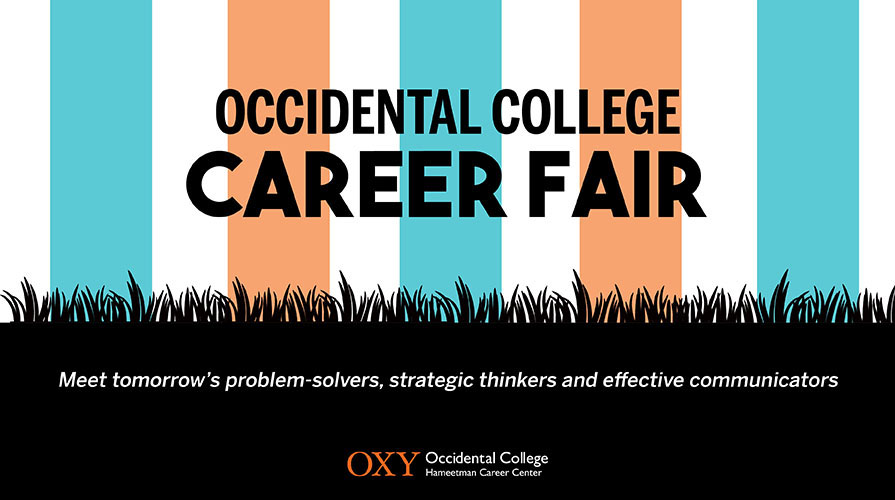 Oxy career fair flyer