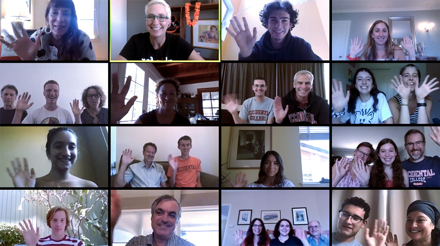 Incoming students and their families on a Summer Sendoff Celebration Zoom call