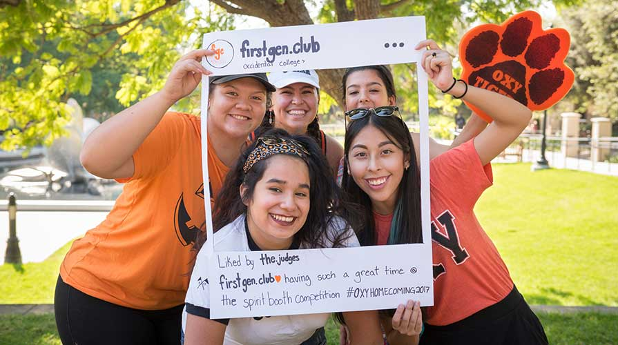 First-generation students at Oxy