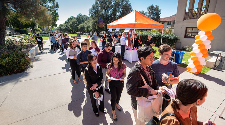 Oxy students at the career fair