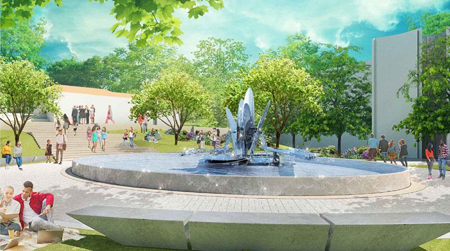 Redesigned Gilman Fountain