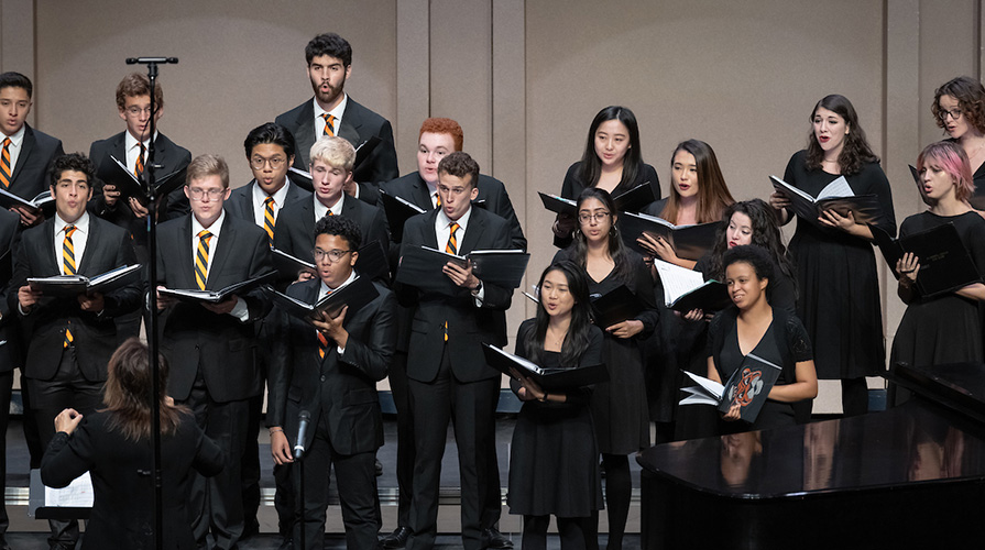 Occidental College Glee Club performing
