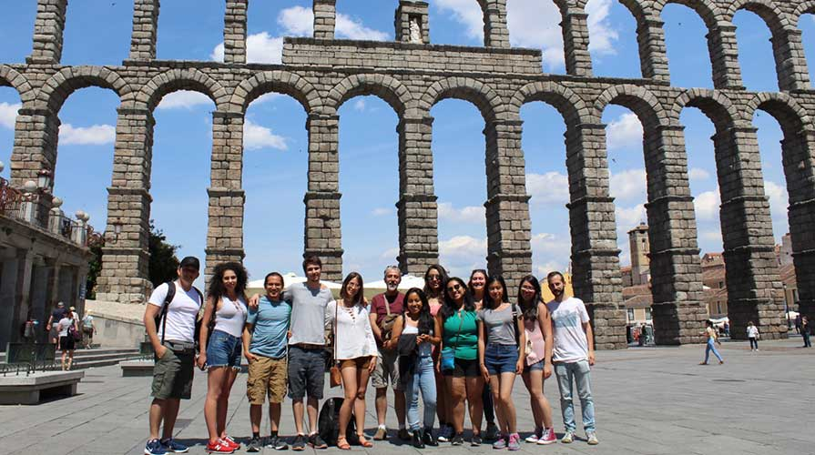 Oxy students on a course abroad in Europe