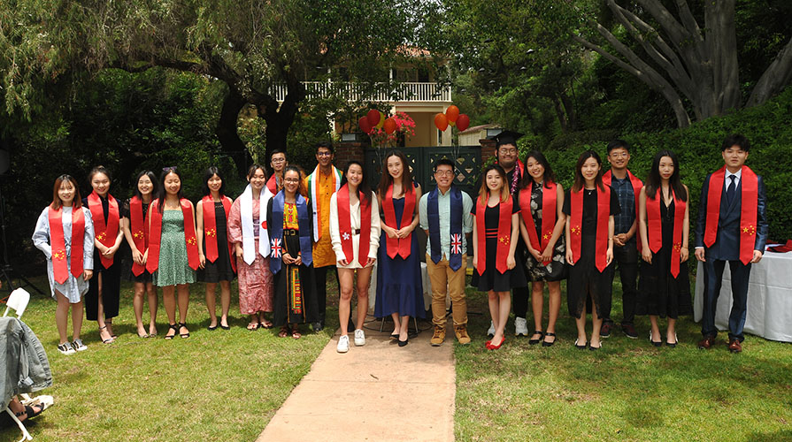 International students at 2019 graduation