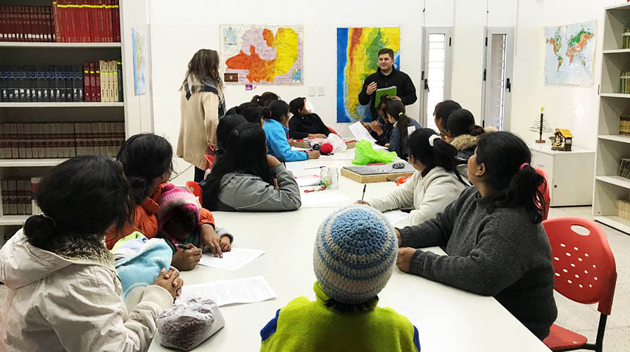 A classroom in Latin America