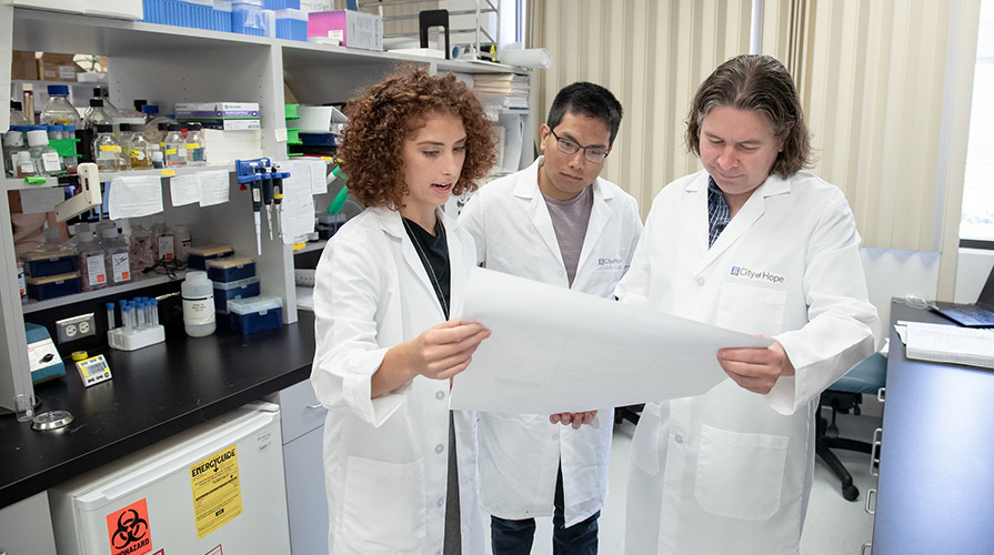 scientists in a lab