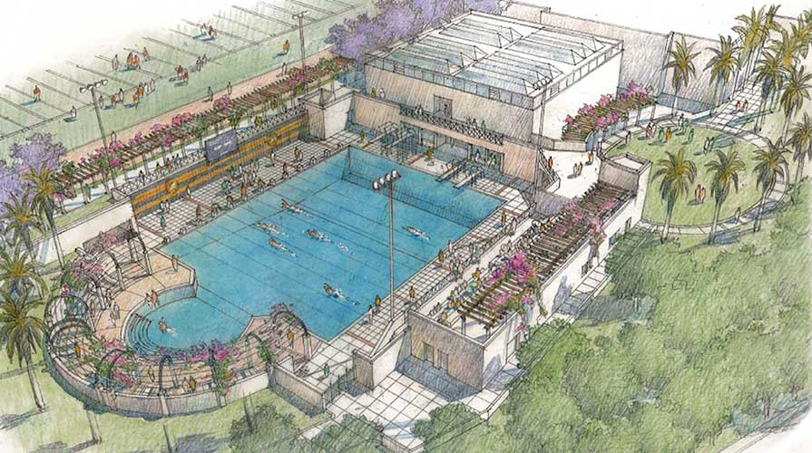 Architectural drawing of new pool