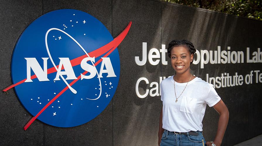 Oxy student intern at NASA's JPL