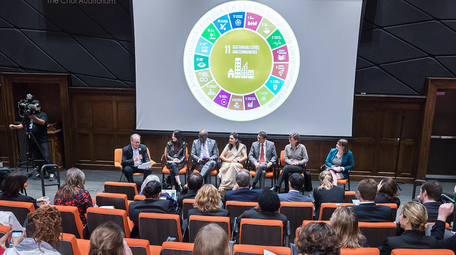 A panel event for UN at Oxy week