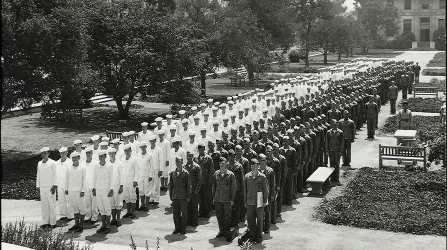 Naval Training Unit on Quad, 1943