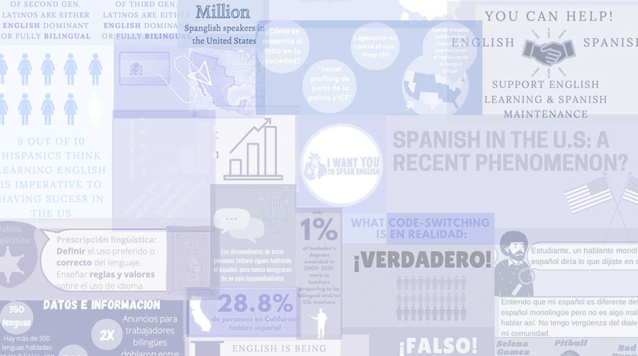 a graphic showing infographics about spanish language in the US