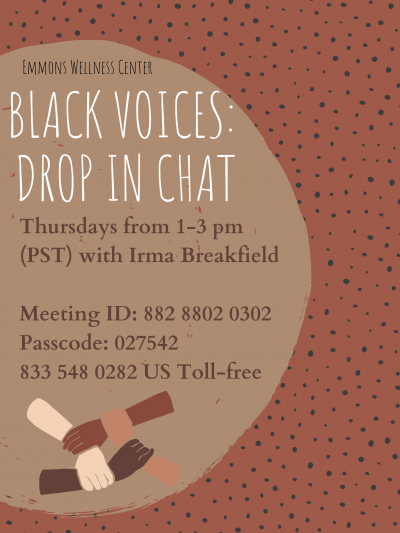Black Voices: Drop In Chat Poster