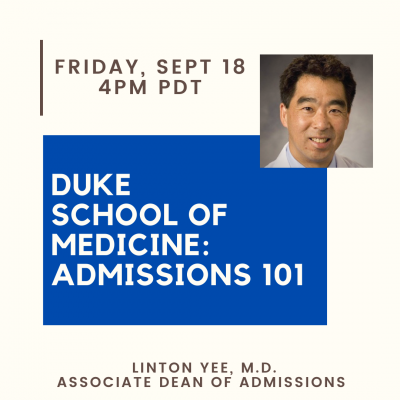Linton Yee-Duke School of Medicine Info-session