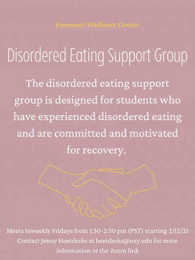 Disordered Eating Support group information