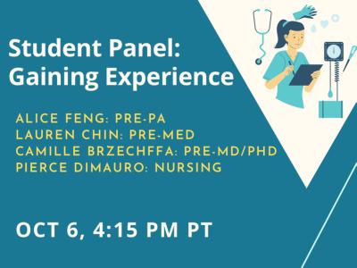 Student Panel Oct 6 Event
