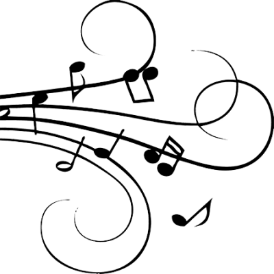 A drawing of musical notation