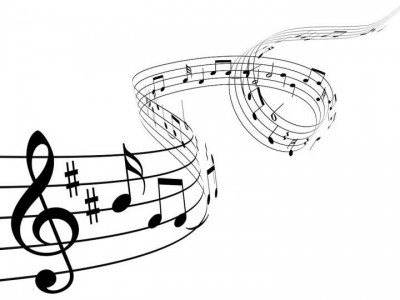 A graphic of musical notation