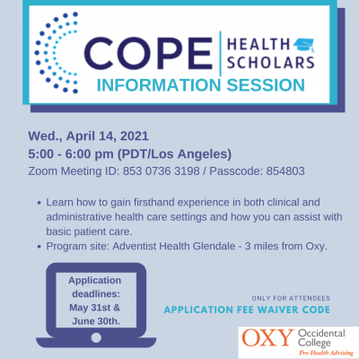 cope info session flyer