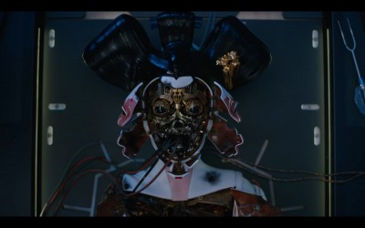"""Detail from Astria Suparak's  """"Asian futures, without Asians"""" series, with image from """"Ghost in the Shell,"""" 2020-Present"""