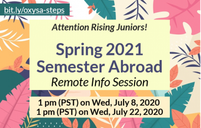 Sp21 Study Abroad Info Session - Remote on July 22, 2020 1pm PST