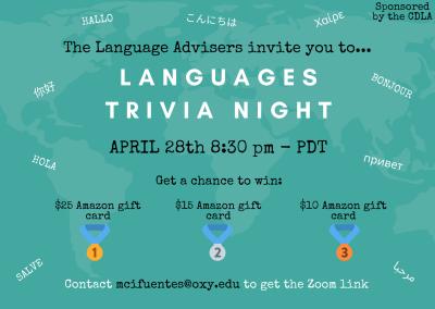 Languages Trivia Night