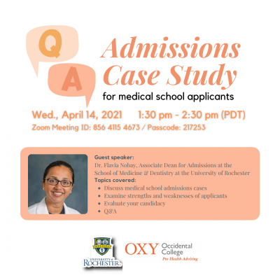 med school admissions case study session