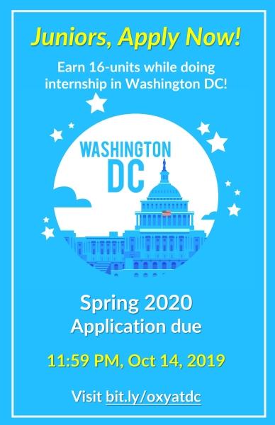 Spring 2020 Internships Washington Dc.Spring 2020 Washington Dc Internship Application Due Oct 14