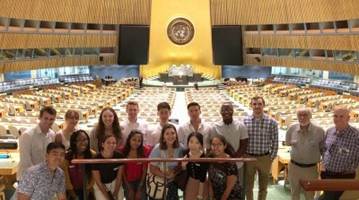 Oxy Students at the UN as part of the Kahane United Nations Program