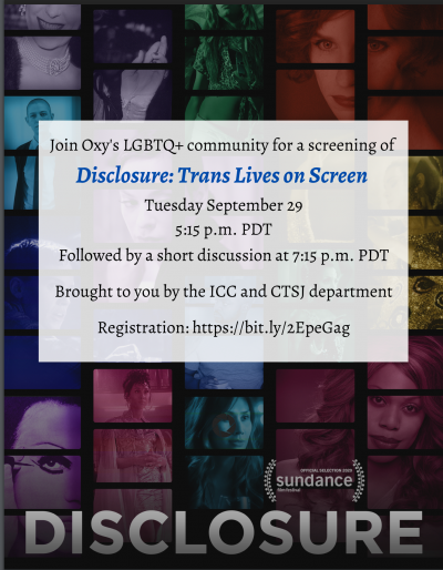 Image of Flyer for Disclosure: Trans Lives on Screen Event