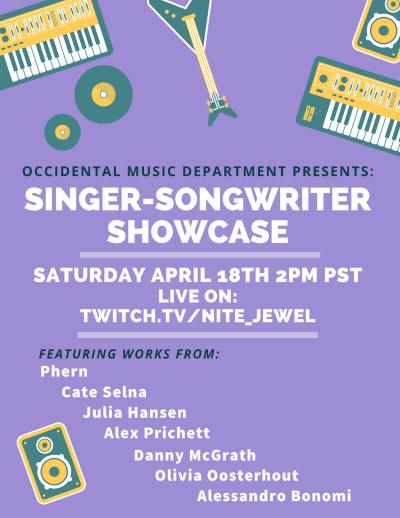 Singer-Songwriter Showcase Flyer