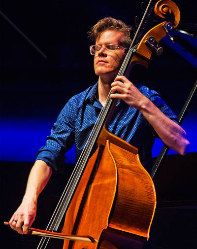 Ted Botsford playing the double bass