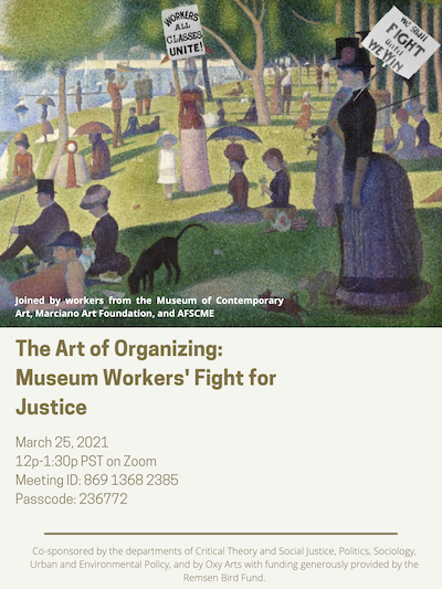 Event poster for panel discussion