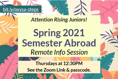 IPO Study abroad info session - Thursdays