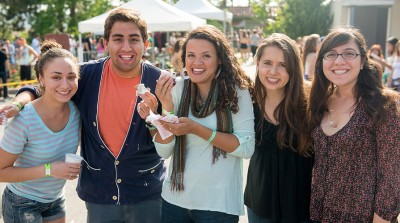 Five transfer students attend event at Oxy