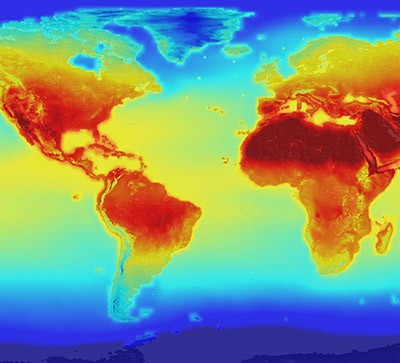 A map of warming temperatures across the globe