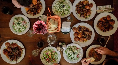 A table covered with a selection of delicious, sustainable foods