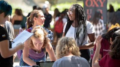 Students at the Oxy Involvement Fair