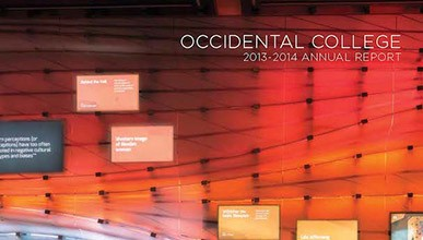 Cover of the 2013-2014 Occidental College Annual Report