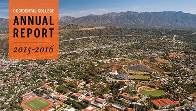 Cover of the 2015-2016 Occidental College Annual Report