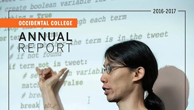 Cover of the 2016-2017 Occidental College Annual Report