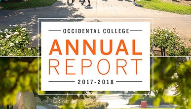 Cover of the 2017-2018 Occidental College Annual Report